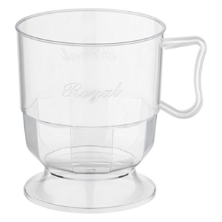 Henkeltasse, transparent, 200 ml