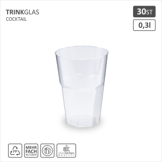 Trinkglas Cocktail, PP, 300 ml